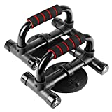 APPRETE Push Up Bars Strength Training, Push Up Handles for Floor Workouts - Workout Stands with Ergonomic Push-up Bracket Board with Non-Slip Sturdy Structure Great for Home Fitness (red)