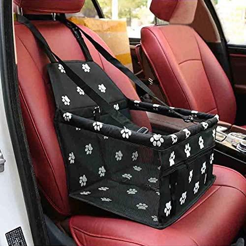 Bolsa de viaje para asiento elevador de coche para mascotas, resistente al agua, para asiento de coche de perro, transpirable, plegable, suave, lavable, para perros, gatos u otras mascotas pequeñas