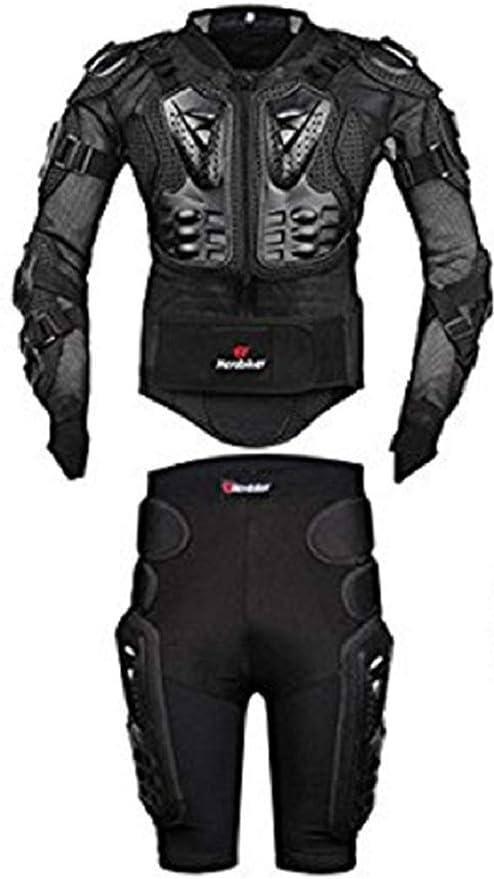 Fuluoyin Mtb Protektorenjacke Mit Hose Panzer Protektorenhemd Für Radfahren Reiten Motorrad Fahren S 5xl Sport Freizeit