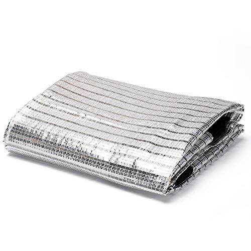 HAIPENG aluminiumfolie schaduw doek zon reflecteren schaduw net UV-bestendig 75% schaduw prijs tuin patio bloem plant (kleur: Zilver, Maat : 2X4M)