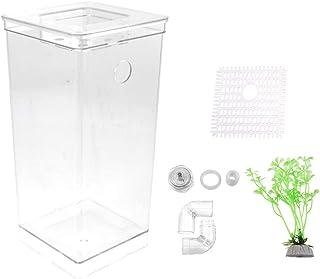 POPETPOP Tanque de Peces Plástico Transparente Limpieza por Gravedad Tanque de Peces País de Las Maravillas