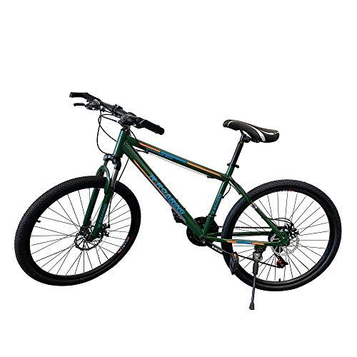 PREMIUMA R.Roaring Mountain Bikes 26 Inch Wheel 21 Speed Dual Disc Brakes Mountain Bicycle Suspension Fork Rear for Adult or Teens Dark Green