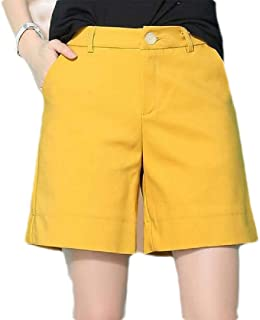 FSSE Women High Waist Plus Size Loose Pockets Casual Shorts