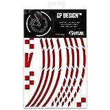 VFLUO GP Design™, Kit Strisce Adesivi rifrangenti/Riflettenti per Cerchioni Moto (1 Ruot...