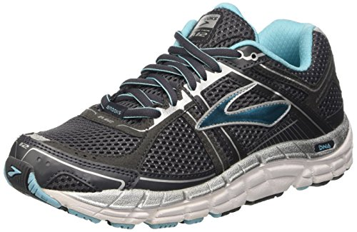 Brooks Women's Addiction 12 Running Shoe Anthracite/Bluefish/Silver 6 B(M) US