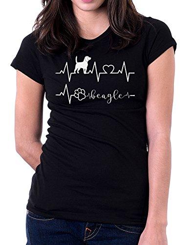 Tshirt Elettrocardiogramma Beagle - I Love Beagle - Cani - Dog - Love - Humor - Tshirt Simpatiche e Divertenti