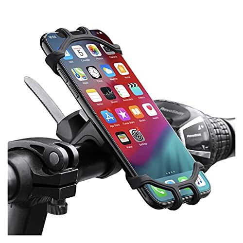 Soporte Celular Bicicleta Soporte de teléfono de bicicleta compatible con iPhone 11 Compatible con Samsung Universal Mobile Celular Soporte de soporte de accesorios Bicicleta GPS Monte Soporte Soporte