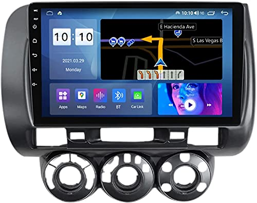 YIJIAREN Navigazione GPS Autoradio per Hon-da Jazz City 2002-2007, Schermo tattile 2.5D Android 10.0 Autoradio Stereo Supporta Il Controllo del Volante BT FM Mirror-Link 4G WiFi