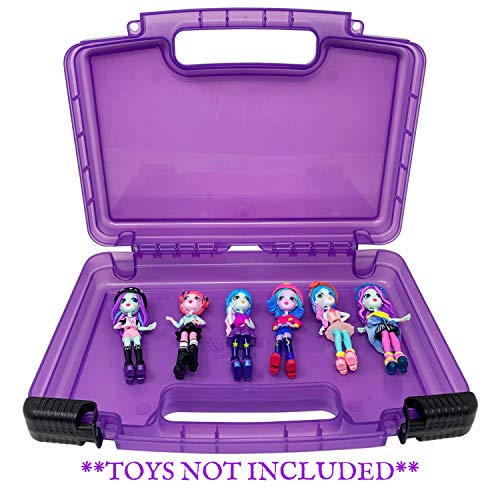 Life Made Better Portable Purple Toy Organizer Case, Carries Six+ Figurines, Compatible with Off The Hook Figures - Toys Not Included
