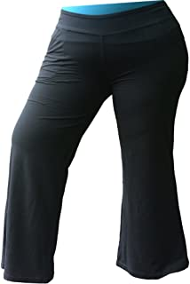 Plus Size Pants for Women. Relaxed Yoga Style with Pockets. Neutral Black - Activewear for Everywhere
