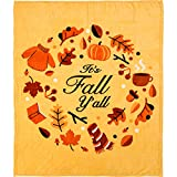 Infinity Republic It's Fall Y'all Holidays Super Plush Blanket - 50x60 Soft Throw Blanket - Perfect for Cuddle Season & Holiday Gifts!