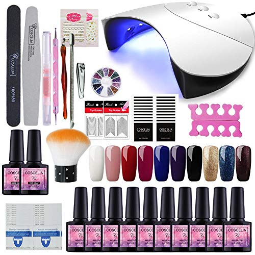 Saint-Acior 36W Lámpara Secador de Uñas UV/LED Nail Dryer 10PCS Esmalte Semipermanente...