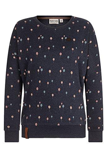 Naketano Female Sweatshirt Geht auf deinen Nacken Indigo Blue Melange, S