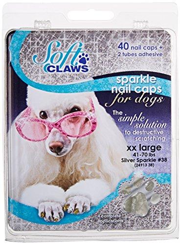 Soft Claws Canine Nagelkappen für Hunde, Größe XXL, silberfarben