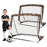 MOLANEPHY Sports Soccer Goal Set, 4'x3' Kids Soccer Net, Portable Folding Youth Practice Equipment for Backyard, Indoor, Outdoor