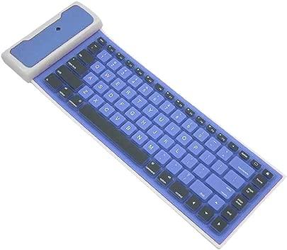 Alicer Bluetooth-Tastatur  universelle schlanke drahtlose Bluetooth-Tastatur  tragbare ger uscharme Silikon-Soft-Laptop-Faltbare drahtlose Tastatur