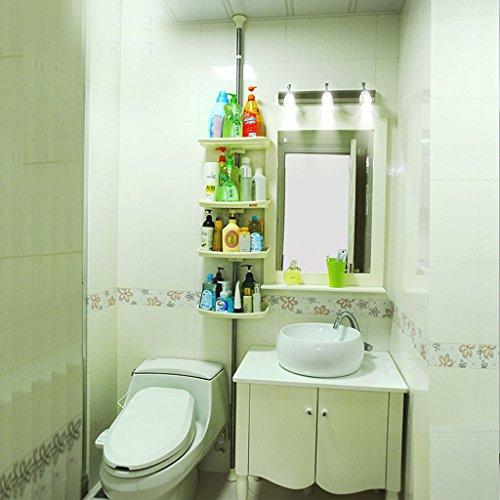 Zfggd Salle de Bains - Quatre étagères Story Dingtian Législation for Le Cadre de la Salle de Bains Toilettes étagères Finition de Toilette