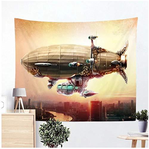KBIASD Tecnología Exploración Espacial Patrón de Dibujos Animados Tapiz Playa Yoga Alfombra Colgante de Pared Decoración Moderna para el hogar Tapiz de Pared 200x150cm