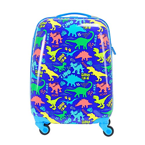 BONTOUR Maleta infantil con motivo de dibujos animados, equipaje de mano para niños, maleta de viaje para niñas, maleta pequeña trolley para niños y madres