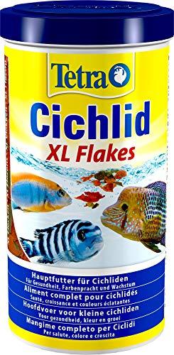 Tetra Cichlid XL-Flakes (Hauptfutter für alle größeren Cichliden), 1 Liter Dose