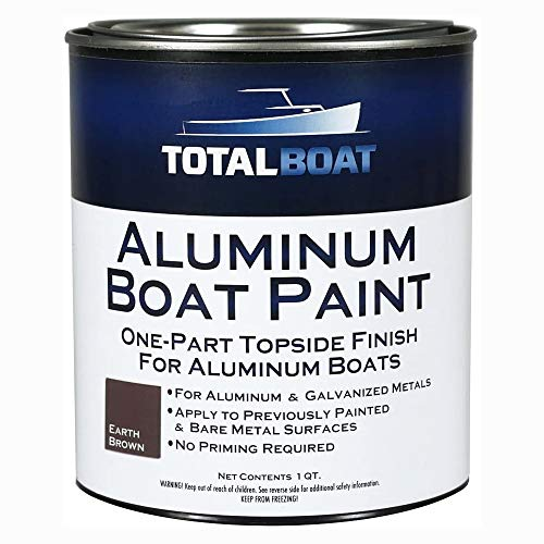 TotalBoat Aluminum Boat Paint for Canoes, Bass Boats, Dinghies, Duck Boats, Jon Boats and Pontoons (Earth Brown, Quart)