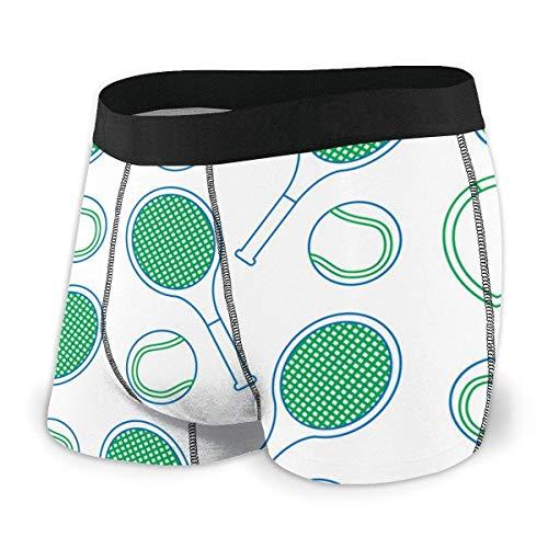 AOOEDM Boxer Briefs, Calzoncillos Tipo bóxer para Hombre, Raqueta de Tenis y Pelota, Comodidad, Ropa Interior clásica, Pantalones Cortos Transpirables geniales