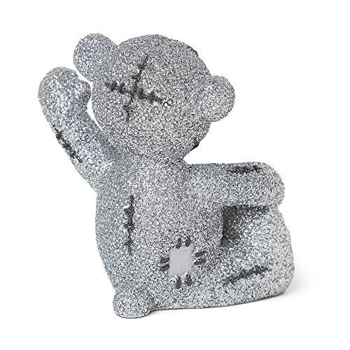 Me to You Me to You Glitter Tatty Teddy Figurine, Silver, 8cm