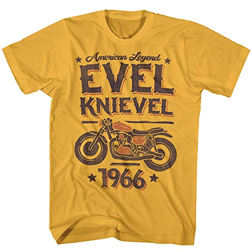 Evel Knievel Motorcycle Stuntman 1966 American Legend Ginger Adult T-Shirt Tee