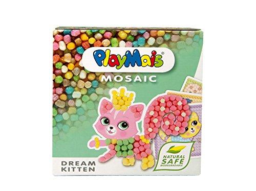 PlayMais MOSAIC Dream Kitten Kreativ-Set zum Basteln für Kinder ab 5 Jahren | Über 2.300 Stück & 6 Mosaik Klebebilder mit süßen Katzen | Fördert Kreativität & Feinmotorik | Natürliches Spielzeug