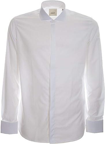 LEQARANT Homme F50blancCERIMONIA Blanc Coton Chemise