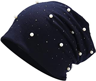 Snowlike Women's Headgear Solid Color Cloth Cap Simple Cotton Cap Pearl Wild Hat Fashion Warm Vintage Hat