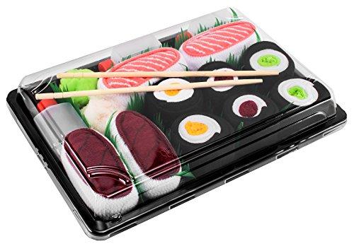 Sushi Socks Box - 5 paire de Sushi CHAUSSETTES en Coton pour Fammes et Hommes, Multicolore, 41/46