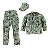 Trooper Clothing NWU Type III/AOR II 3pc Navy Youth Uniform Set (Small (6-8))