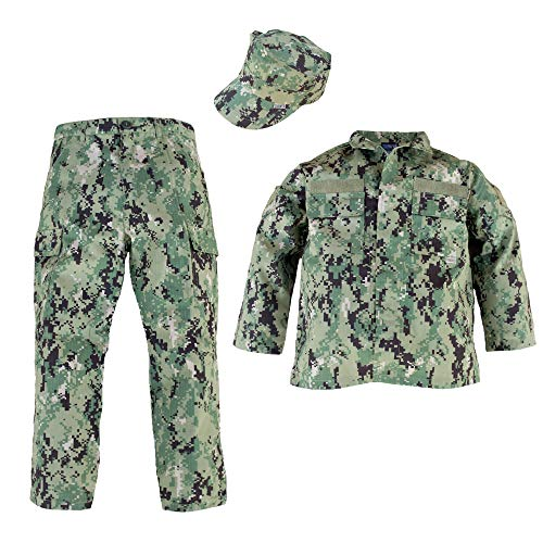 Trooper Clothing NWU Type III/AOR II 3pc Navy Youth Uniform Set (Small (6-8))