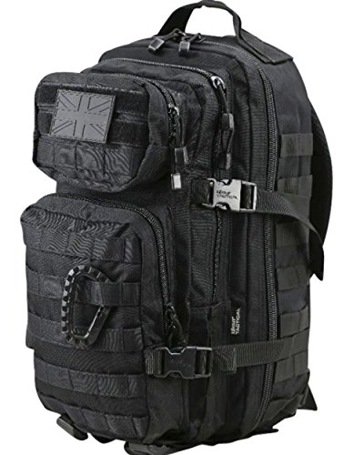 British Army Day Pack Sack Combat Rucksack Bergen Molle Black 28 Litre