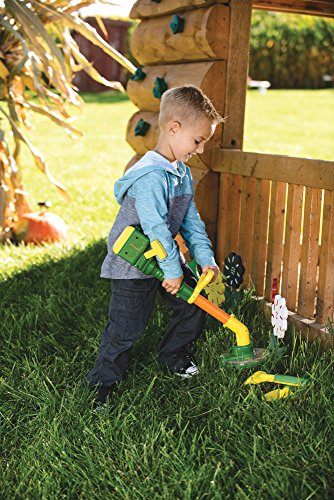 TOMY John Deere Weed Trimmer Lawn and Garden Tool Set with Pull String for Kids Outdoor Playtime