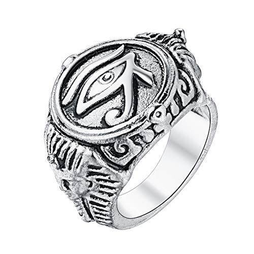FaithHeart Anillo Amuleto de Protección Buena Suerte Joyería Moderna