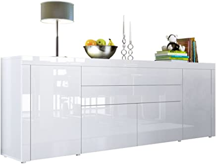 Amazon.fr : buffet blanc laque brillant - Buffets, crédences et ...