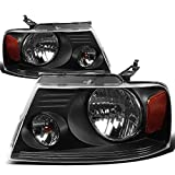 Best Headlights - DNA Motoring HL-OH-F1504-BK-AM Black Amber Headlights Replacement For Review