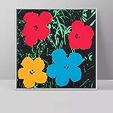 wen-shhen No frameDrei Blumen Bild von Andy Warhol