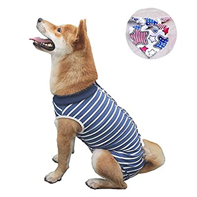 Isyunen Dog Surgical Recovery Suit Abdominal Wound Protector Medical Surgical Shirt, After Surgery Wear, E-Collar Alternative for Dogs, Home Indoor Pets Clothing XS