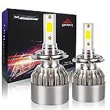 H7 LED Headlight Bulbs Low Beam, Diamond White 12V/55W 5500K, 11000LM Conversion Kit Plug and Play, 400% Brightness, H7 Head Light Bulb Replacement, Pack of 2
