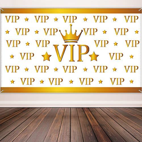 Auszeichnungen Nacht Party Dekorationen VIP Hintergrund Banner Roter Teppich Hintergrund Film Banner für Hollywood Dekorationen, 72,8 x 43,3 Zoll