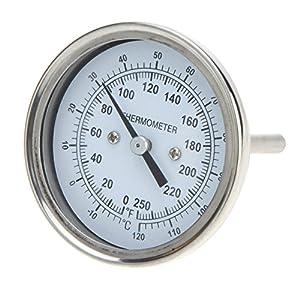 Nishore Alta Precisión Horno Termómetro de Inoxidable Acero, Temperatura Medidor para Casa Cocina Alimentos Carne Dial