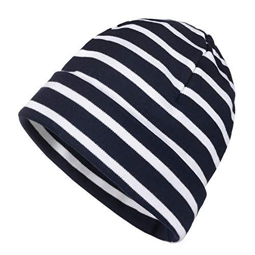 modAS Bretonische Rollmütze gestreift Verschiedene Größen und Farben (05 blau/Weiss, 2 = bis 55cm Kopfumfang)