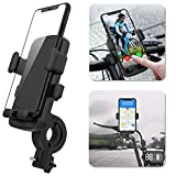 Ossky Soporte Movil Bici,Universal Rotación 360°Soportes Movil para Moto Bicicleta,Anti Vibración Porta Telefono Motocicleta para iPhone SE 2020/11 Pro MAX/XR,Samsung S20 etc y Otro 4.7-6.5' Móvil.