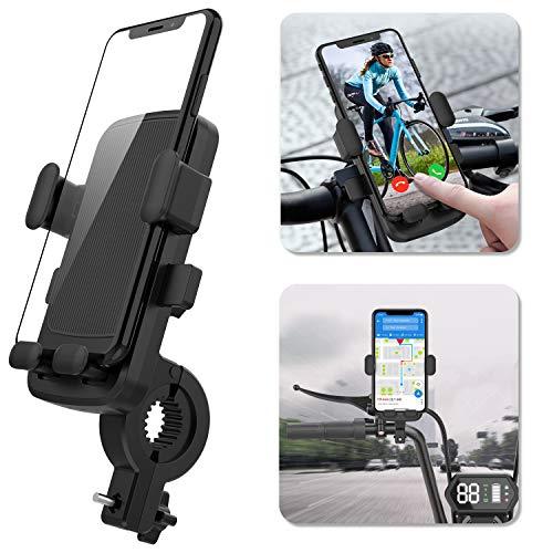 """Ossky Soporte Movil Bici,Universal Rotación 360°Soportes Movil para Moto Bicicleta,Anti Vibración Porta Telefono Motocicleta para iPhone SE 2020/11 Pro MAX/XR,Samsung S20 etc y Otro 4.7-6.5"""" Móvil."""