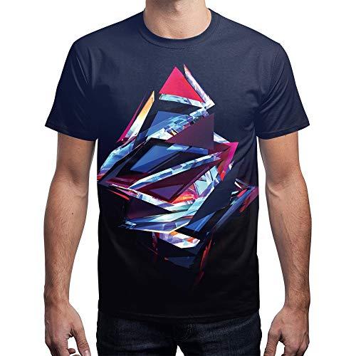 XIAOBAOZITXU T-Shirt Mannen En Vrouwen Liefhebbers Kleding Abstract Patroon Korte mouw 3D Digitale afdrukken Ronde hals Losse Sport Mode Grote Maat T-Shirt