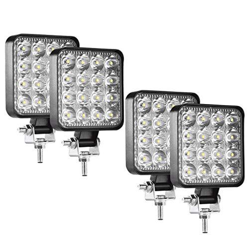 LED Scheinwerfer LED Arbeitsscheinwerfer 12V /24V 4x48W Offroad Zusatzscheinwerfe Wasserdicht IP67 Für Trecker Jeep KFZ Bagger SUV UTV ATV