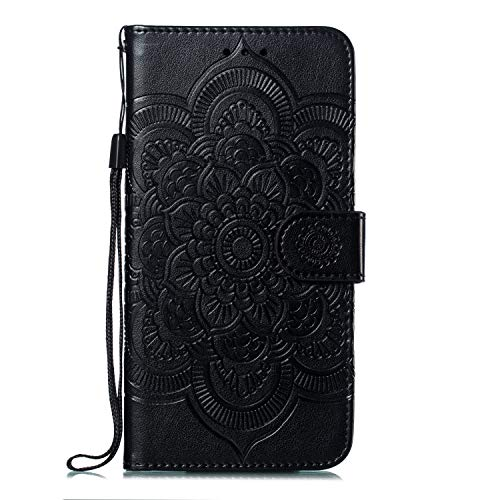 Leather Wallet Case for [Huawei Mate 20 Pro] PU Leather Magnetic Flip Cover with Card Slots Holders Bookstyle Wallet Case for Huawei Mate20 Pro - JEEB010725 Black